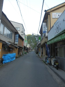 The road to Hasedera at 6am. 8/9/2012